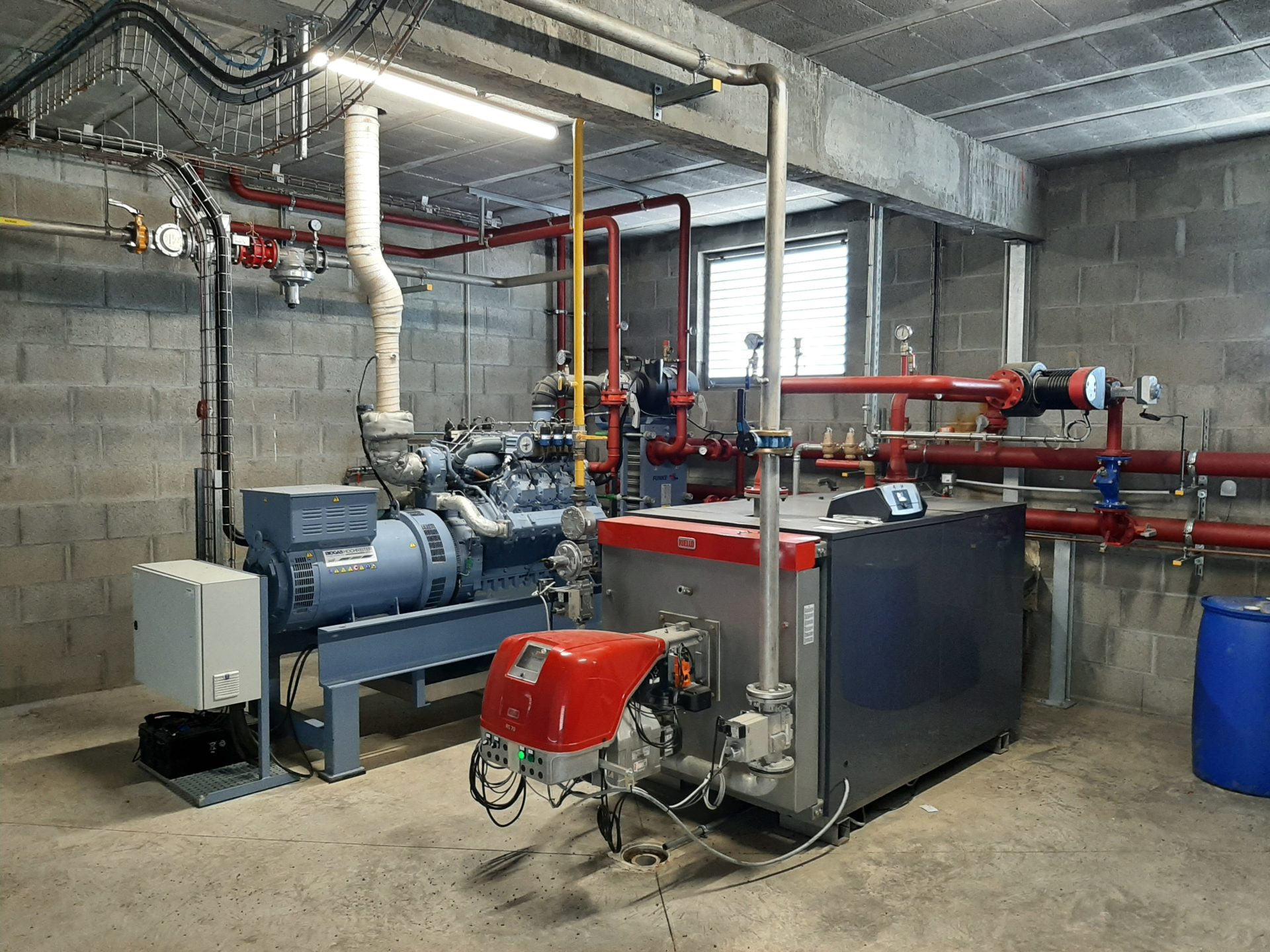 Moteur et chaudiere biogaz